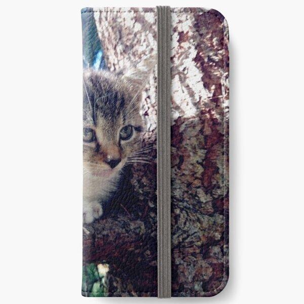 Tiger auf Baum iPhone Flip-Case