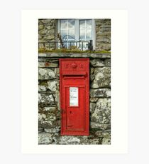 Edward VII Postbox Art Print