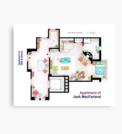 "Jack MacFarland's apartment from ""Will & Grace"" Canvas Print"