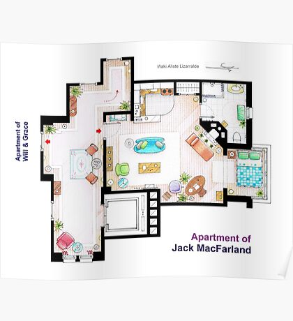 "Jack MacFarland's apartment from ""Will & Grace"" Poster"