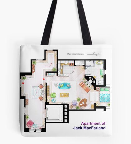 """Jack MacFarland's apartment from """"Will & Grace"""" Tote Bag"""