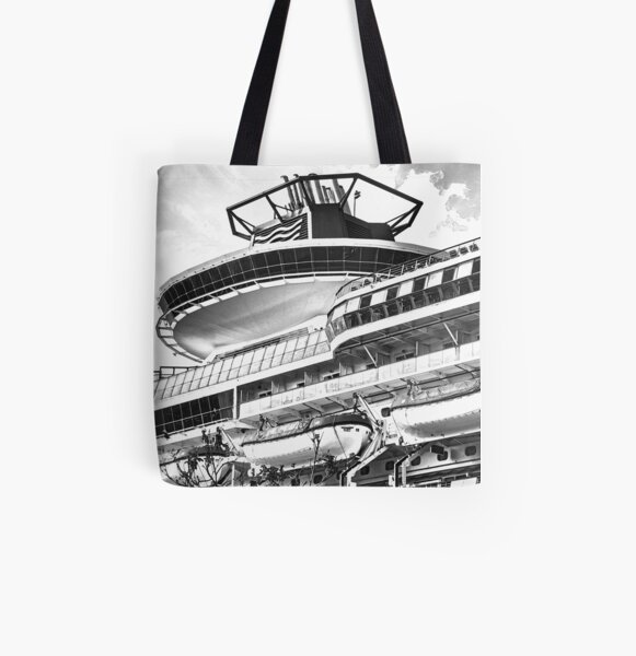 Ship architecture sketch All Over Print Tote Bag