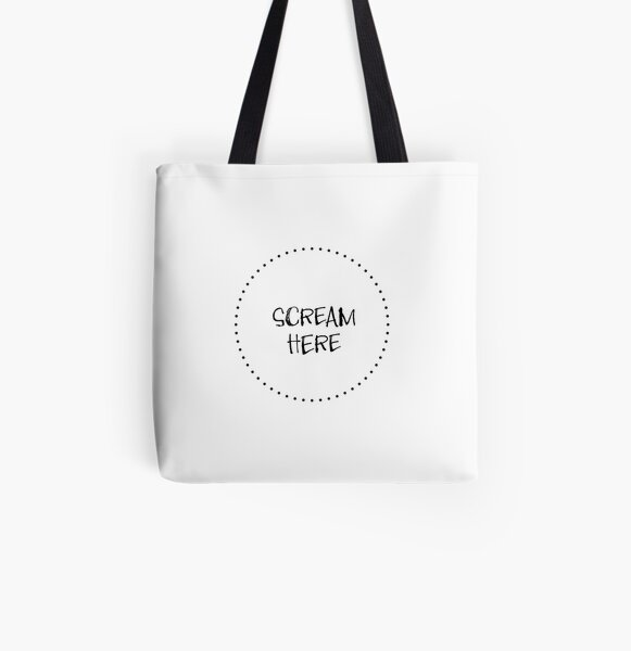 Screaming Pillow All Over Print Tote Bag