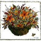 Collage with wild flowers by Madalena Lobao-Tello