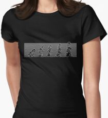 99 Steps of Progress - Post-punk Womens Fitted T-Shirt