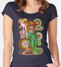 Ginger Kimono Girl Women's Fitted Scoop T-Shirt