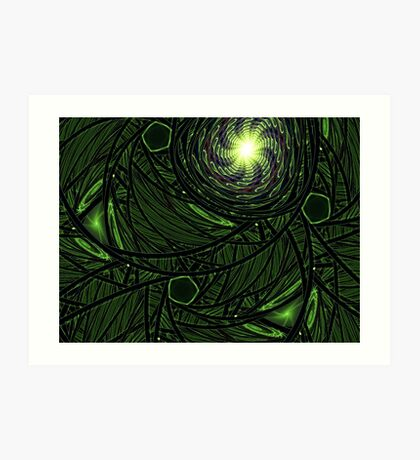 Green Frost Art Print