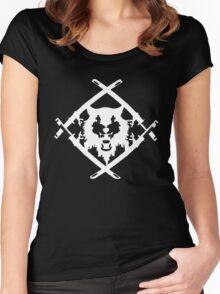 Xavier Wulf Black Women's Fitted Scoop T-Shirt