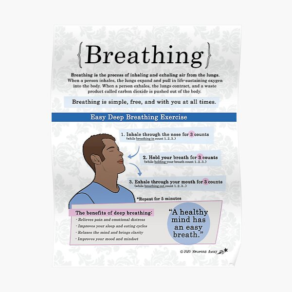 Breathing For Adults Poster - Coping Skills - Mindfulness Poster