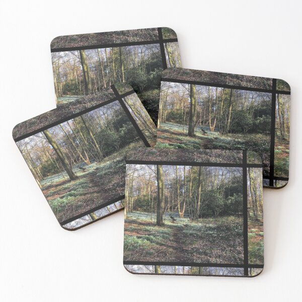 Forest and snowdrop carpet Coasters (Set of 4)