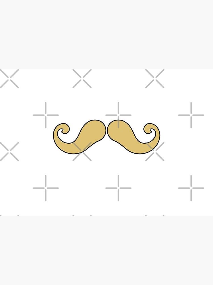 Handlebar Mustache Face Mask Mouth Blond by amyelyse