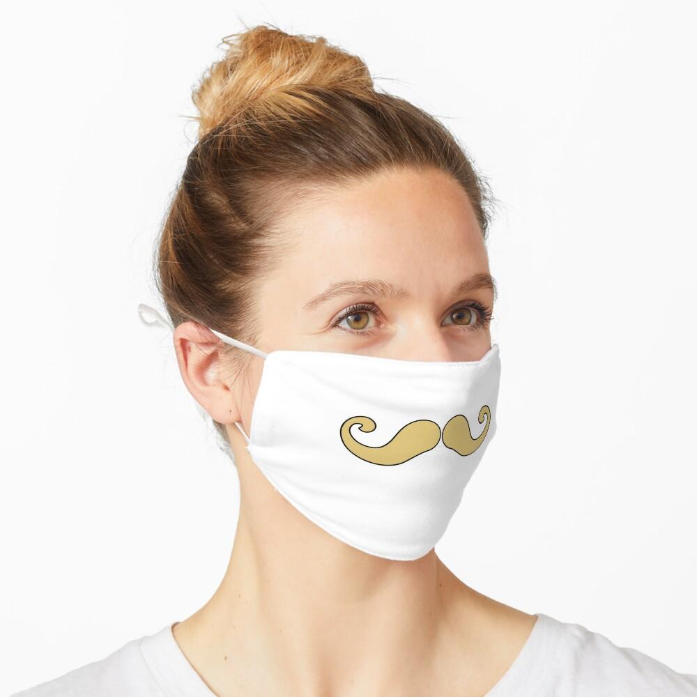 Handlebar Mustache Face Mask Mouth Blond Mask