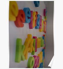 alphabet magnets Poster