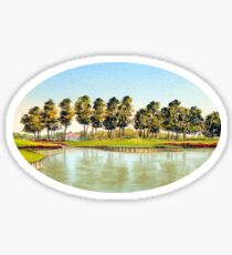 Sawgrass Golf Course Hole 17 Sticker