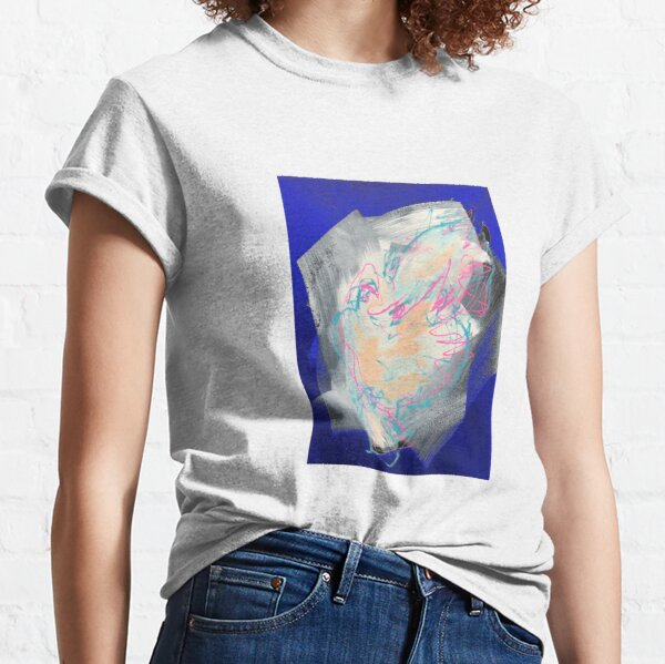 Friedenstaube auf blau Classic T-Shirt
