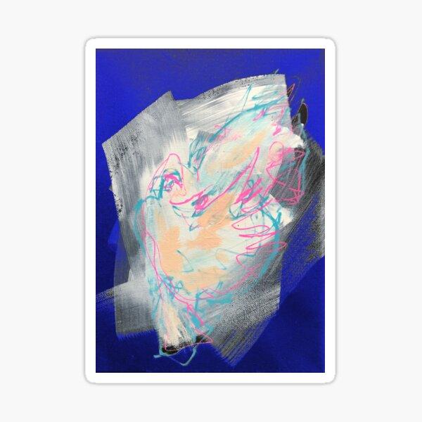 Friedenstaube auf blau Sticker