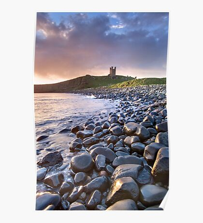 Dunstanburgh Castle Dawn Poster