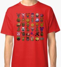 Multiple characters (New set) - Five Nights at Freddy's - Pixel art  Classic T-Shirt