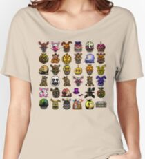 Multiple characters (New set) - Five Nights at Freddy's - Pixel art  Women's Relaxed Fit T-Shirt