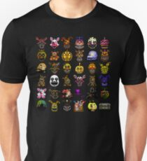 Multiple characters (New set) - Five Nights at Freddy's - Pixel art  Unisex T-Shirt
