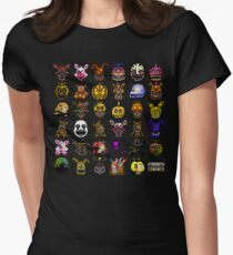 Multiple characters (New set) - Five Nights at Freddy's - Pixel art  Womens Fitted T-Shirt