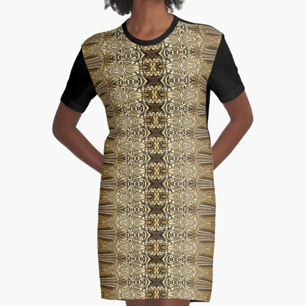 Golden Floral (3)  Graphic T-Shirt Dress