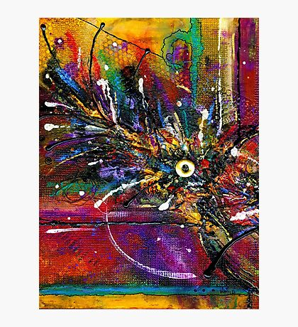 Funky Feathers Tickle Me Photographic Print