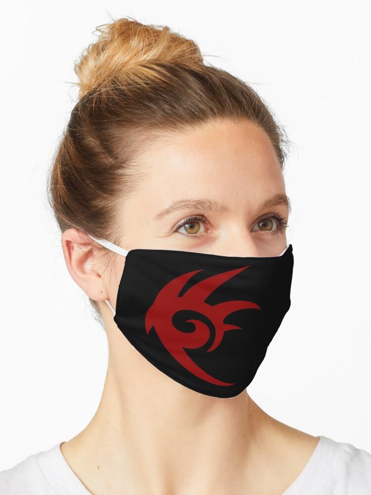 Shadow The Hedgehog Logo Mask By Woocaz Redbubble