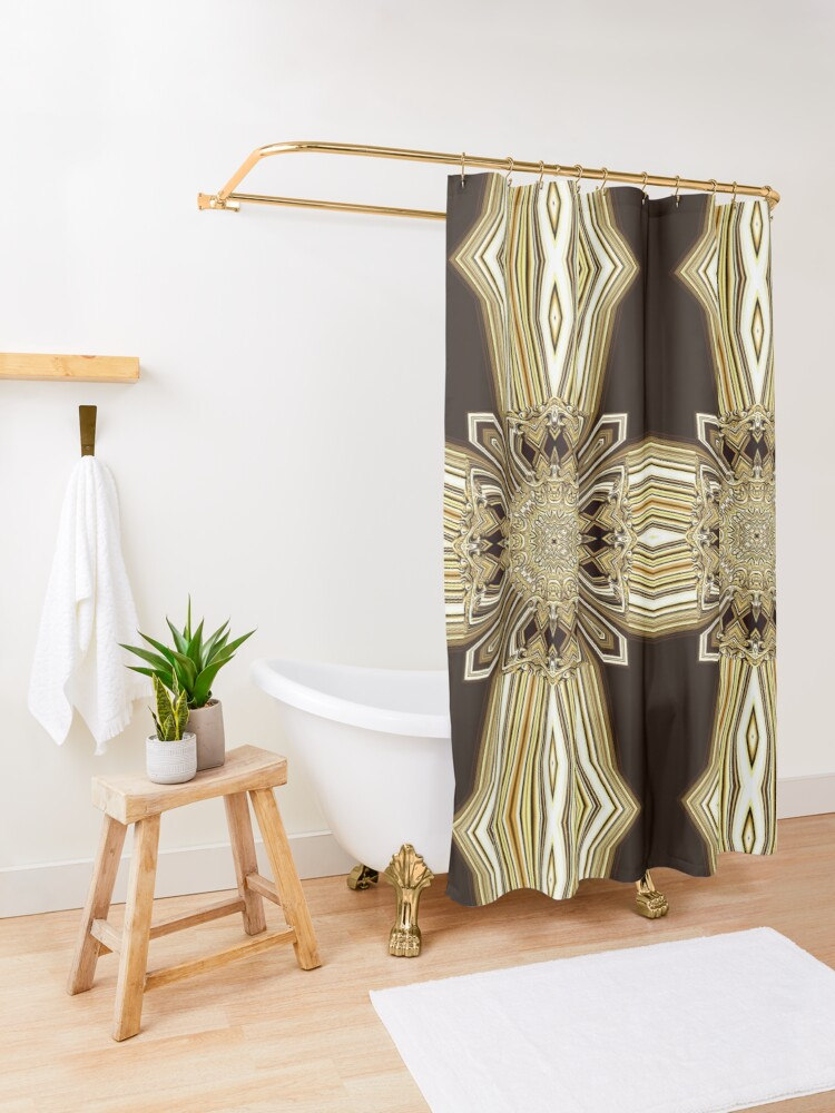 Alternate view of Golden Shield (1) Shower Curtain