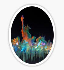 Liberty And New York Skyline Sticker