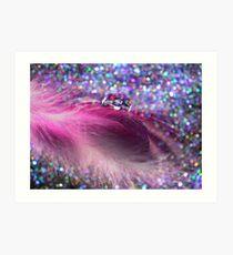 Soft Feathers & Bokeh Art Print