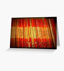 books at hay 9 Greeting Card
