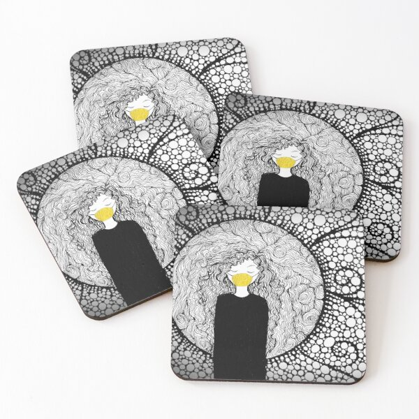 The Gold Mask Coasters (Set of 4)