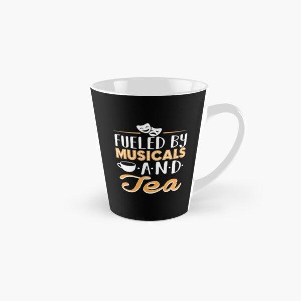 Alimenté par des comédies musicales et du thé Mug long