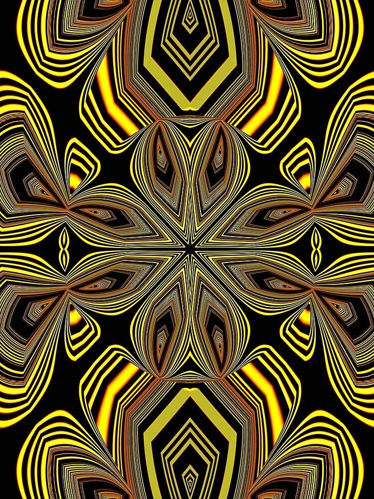 Golden Line Art (1) by vkdezine