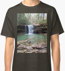 Rustic Appalachian Waterfall Scene Classic T-Shirt