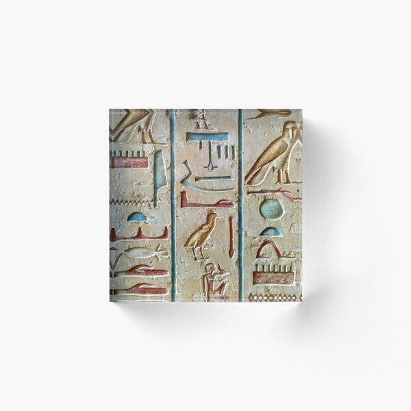 Egyptian Design Acrylic Block