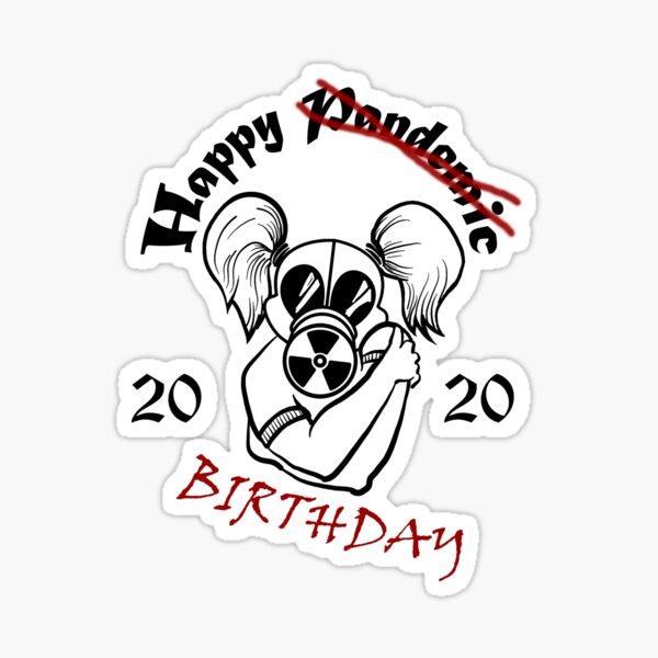 Gas Mask Girl Pandemic Birthday Hug Sticker