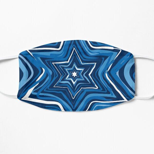 Blue Jewish Star of David burst  Flat Mask