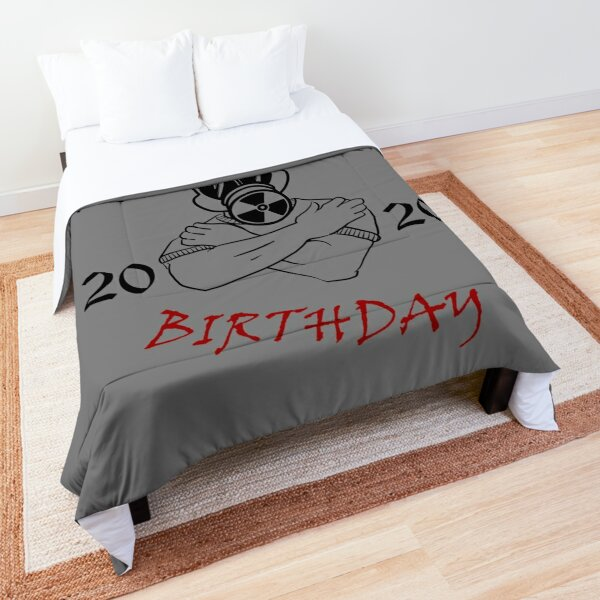 Gas Mask Guy Pandemic Birthday Comforter
