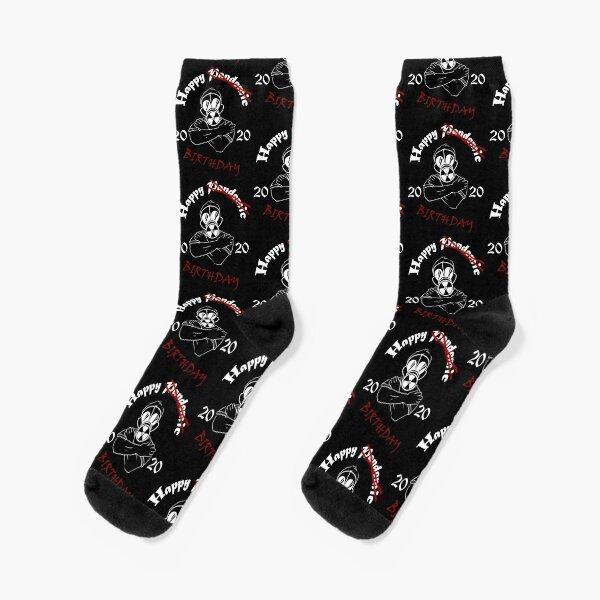 Gas Mask Guy Pandemic Birthday White Socks