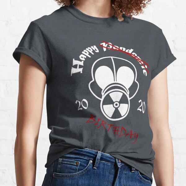 Gas Mask Pandemic Birthday White Classic T-Shirt