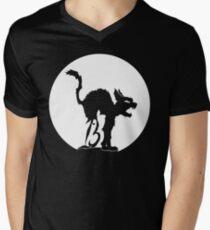 Lucky No 13 Cat V-Neck T-Shirt