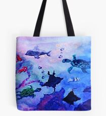 What is under the sea today, watercolor Tote Bag