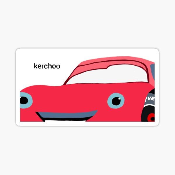 Cars Kerchoo Meme Sticker  Sticker