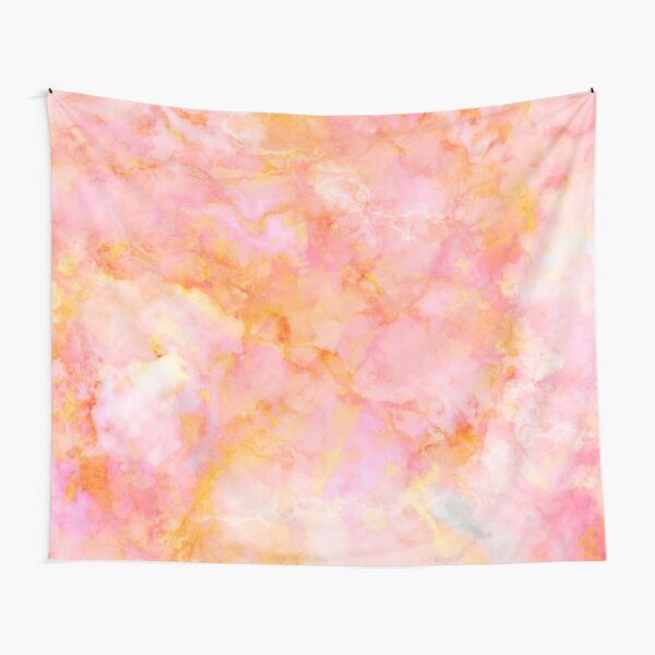Beautiful Rosé and Sunny Marble - pink, coral and orange Tapestry
