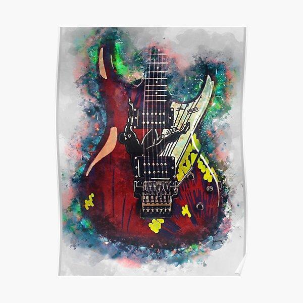 Joe Satriani's electric guitar Poster