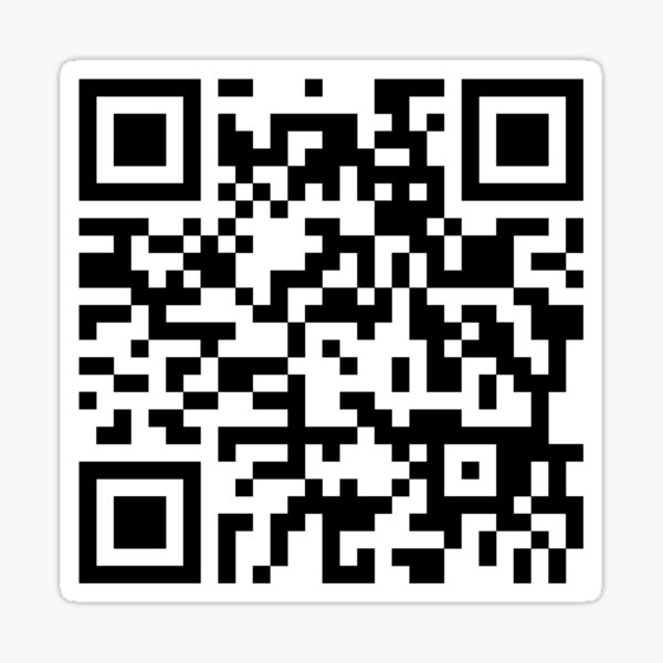 Cantina Band Theme QR Code Sticker