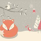 Christmas baby fox 06 by BlueLela
