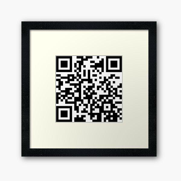 Halo Theme Tune QR Code Framed Art Print